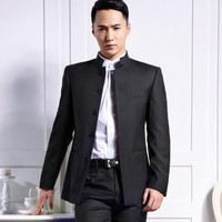 Chinese wind single breasted coat stand collar youth a formal wedding dress jacket multi color optional high quality custom