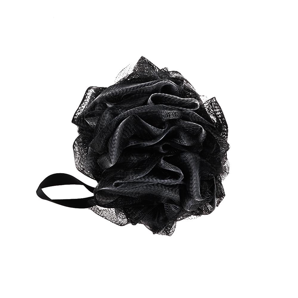 Black Luxury Loofah Shower Pouf Bath Product Luffa Sponge Exfoliating Mesh Pouf Washing Cleaning Sponge bathroom supplies 1