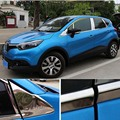 Stainless steel Car window decoration article Chorme Car Accessories For Renault Captur 2014 2015