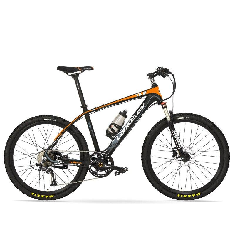 26inch Electric Ebike  Power Assist Bike MTB  Torque Sensor 6-Gear Booster 9 Speed Oil  Spring Fork Electric Mountian PAS Bike