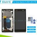 Черный Для Sony Xperia Z ЖК-L36 LT36 L36H ЖК-Дисплей С Сенсорным Экраном Дигитайзер Ассамблеи С Рамкой Замена + Инструменты