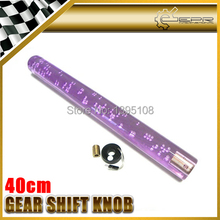Car-styling Extra Large 40cm Purple With Light  Bubble Dildo Shift Gear Knob JDM Fitment Universal