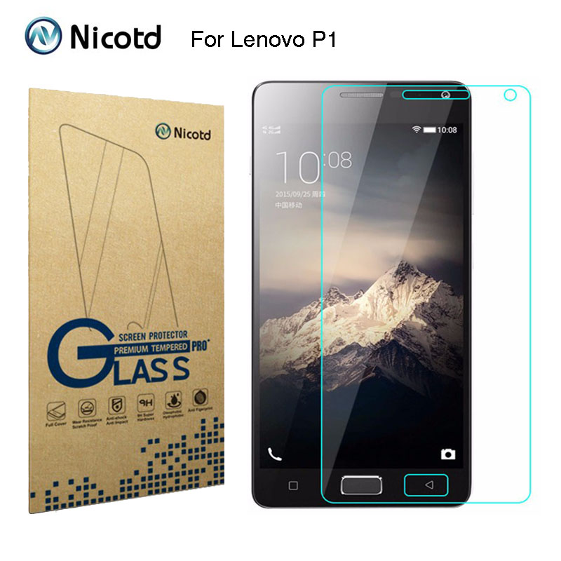 0.26MM 9H Explosion-proof Tempered Glass Screen Protector Protective Film For Lenovo VIBE P1 P 1 P1a42 P1c72 P1c58 Dual Sim Lte