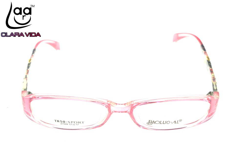 76003f01c2f TR90 Ultra Light Pink Pattern Leg Designer Glasses Frame Custom Made ...