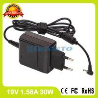 19 V 1.58A laptop power adapter Ladegerät Für Asus Eee PC 1001HT 1015BX 1001PG X101CH 1001PX 1011BX 1001PQ EU stecker