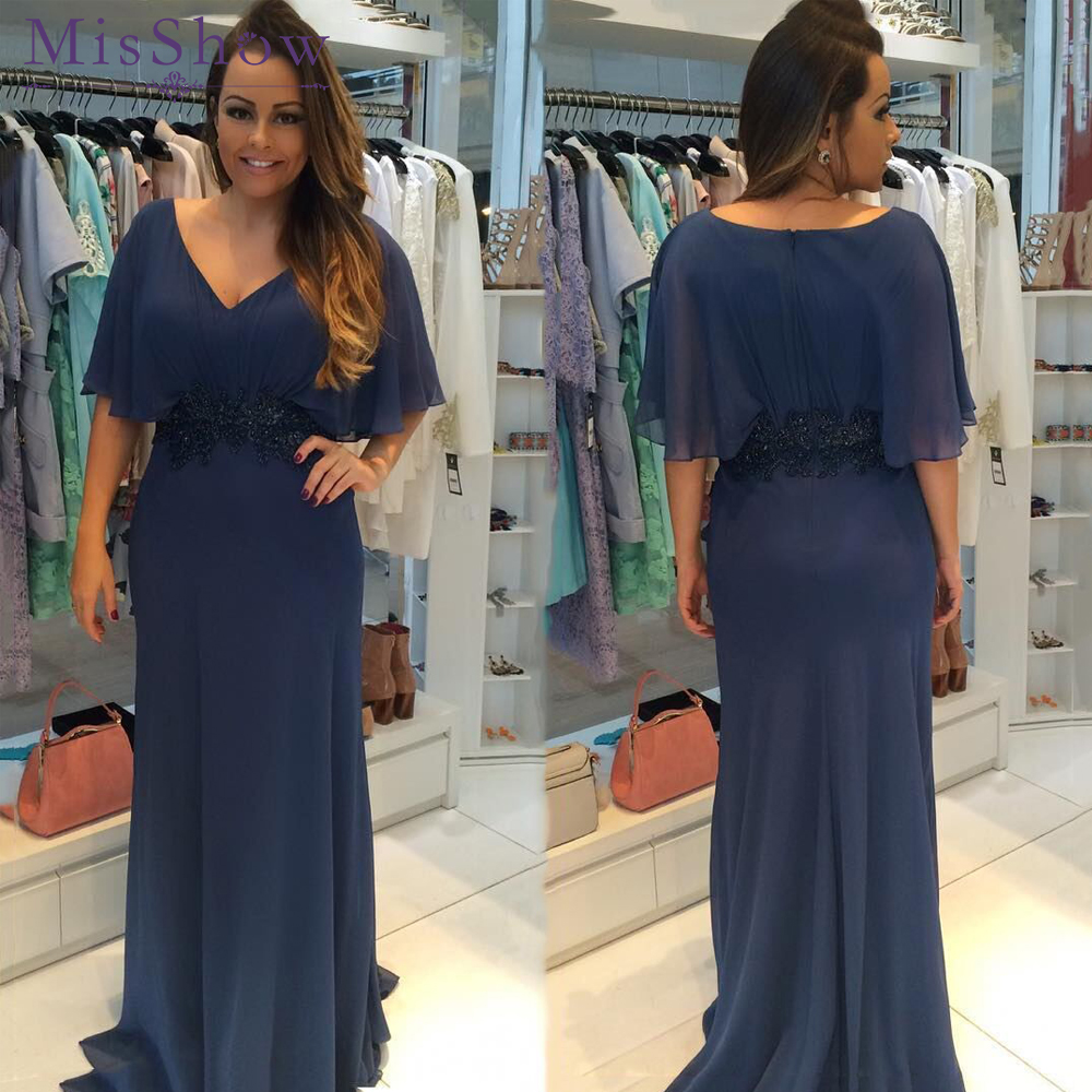 Deep V Neck Chiffon   Bridesmaid     Dresses   plus size Long Robe Demoiselle D'honneur Applique Waist Floor-Length Formal Party   Dresses