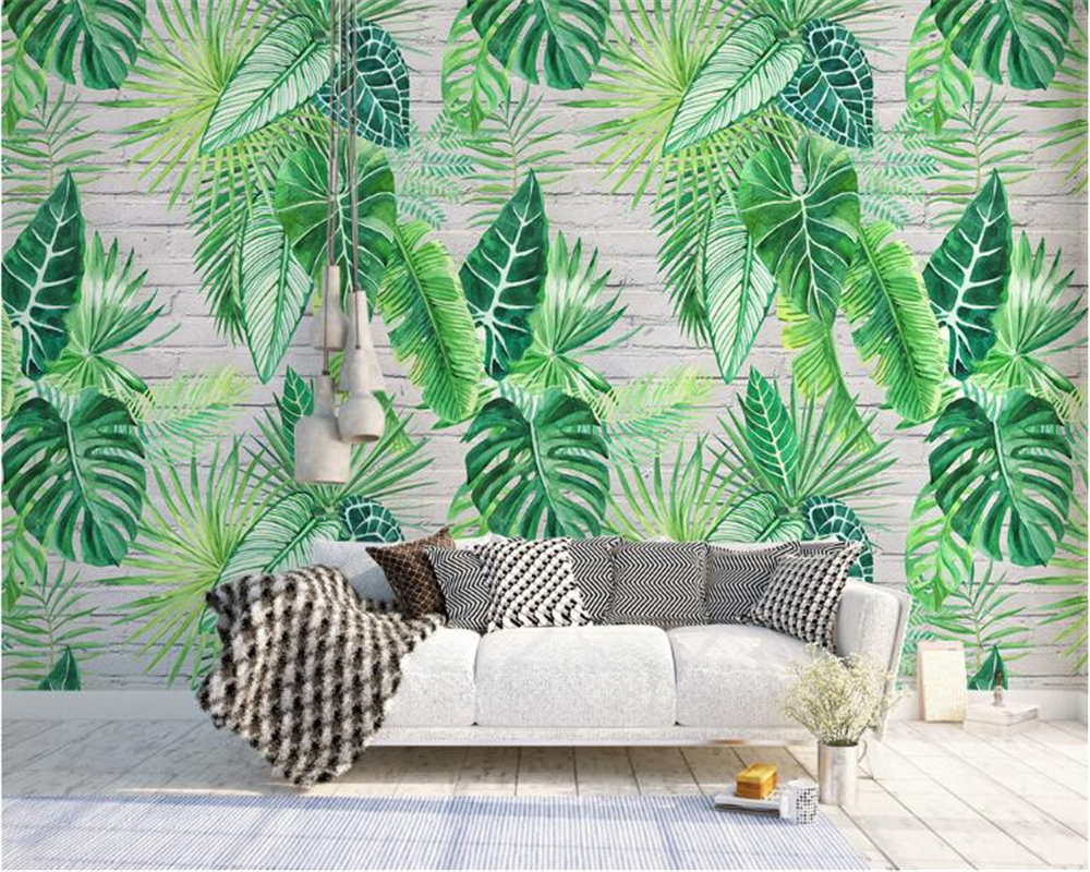 beibehang Classic personality fashion wallpaper Nordic simple tropical plant turtle leaf background wall murals 3d wallpaper beibehang Classic personality fashion wallpaper Nordic simple tropical plant turtle leaf background wall murals 3d wallpaper