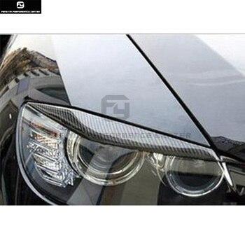 E71 X6 carbon fiber koplampen Lamp ooglid wenkbrauwen voor BMW E71 X6 08-13 gratis verzending