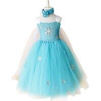 새로운 뜨거운 판매 스노우 여왕 reine des neiges 드레스 여름 엘사 클래식 의상 파티 드레