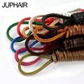 JUP 1 Pair 10 color  Length 60CM-200CM Genuine Cowhide Square Shoelaces Boat Doug Shoes Shoelaces Retro Leather Boots Shoestring