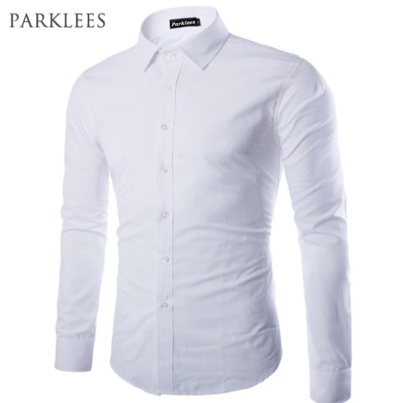 Brand White Men Shirt Long Sleeve Chemise Homme 2015 Fashion Business Design Mens Slim Fit Dress