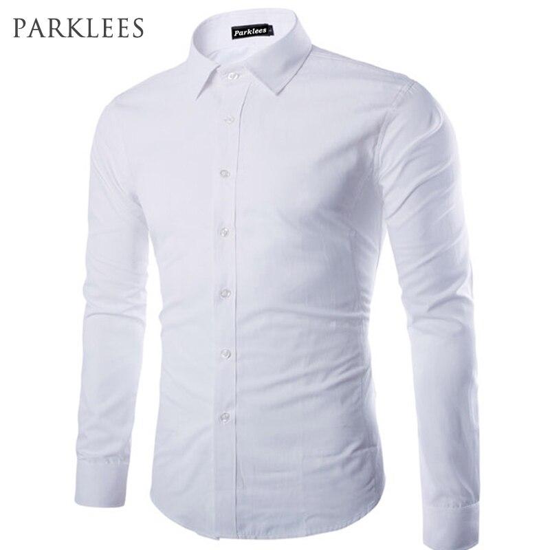 Brand White Men Shirt Long Sleeve Chemise Homme 2016 Fashion Business Design Men