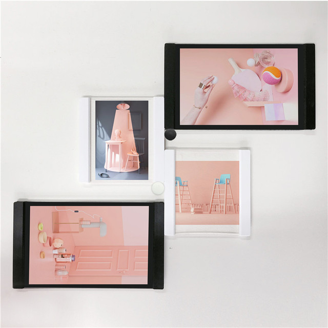 1x photo frame set multi frame hanging photo picture frames flexible transparent modern picture frames - Multi Picture Frames