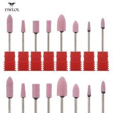 8 видов керамического Кремневого сверла для ногтей Фрезерный резак для ногтей электрическое сверло для ногтей для маникюра педикюра сверла биты-Аксессуары