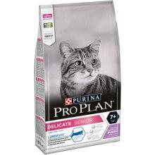 Сухой корм Pro Plan Delicate Senior для взрослых кошек старше 7 лет с чувствительным пищеварением, с индейкой, Пакет, 1.5 кг