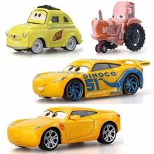 Disney Pixar Yellow Cars 3 For Kids Storm Cruz Ramirea High Quality Plastic Cars Toys Cartoon Models Gifts Toy Model Friends стоимость