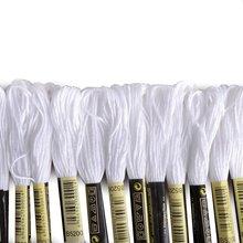 Горячая 24 мотка линии для вышивки крестом вязание браслеты(белый и черный
