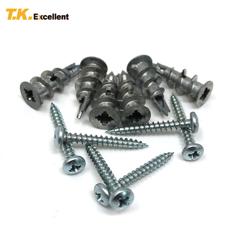 T.K.Excellent 12 Pcs Pan Head Self-Tapping And Screw Expansion Screw Pan Head Self-Tapping Screw Screw-In Metal Anchor st4 8 security self tapping screw pin in torx drive pan head stainless steel t25