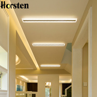 Horsten retangular moderna led luzes de teto lâmpada para corredor sala estar quarto 3 cor mutável iluminação para casa