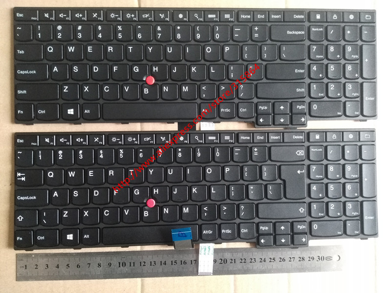 US/UK layout New laptop keyboard for lenovo Thinkpad E550 E555 E550C E560 E565 black new laptop keyboard for thinkpad l430 w530 t430i t530 t430 t430s x230i x230 l530 x230 black us with frame