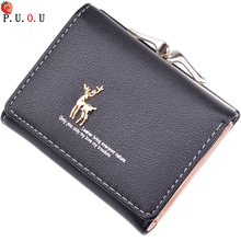 Luxury Brand Women Leather Wallet Small Short Cute Purses Female Pink Coin Wallet Clutch Bags Hasp Credit Card Slots Holder Lady