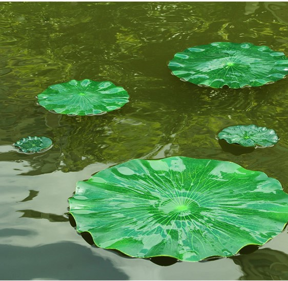 Us 5076 6 Offdia 28cm Artificial Pe Lotus Leaf Diy Wedding Home Pool Decoration Water Lily Green Leaf Supplies Free Shipping In Artificial Dried