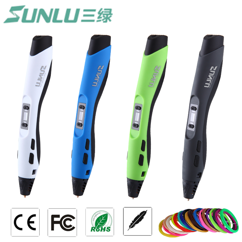 SUNLU SL-300 Children gift doodle toy pen 3D pen with extra 20 bags of 5M ABS filament total 100M for 3d printing painting