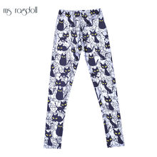 Ms Ragdoll Women Seamless Leggings Printing Yoga Pants Gym Workout Running Fitness Slim Trousers Mujer Sport Pants Jogging Femme(China)