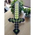 60cm MINECRAFT SWORD pickax gun Mosaic EVA weapon foam pixel Diamonds sword movie show props for children game