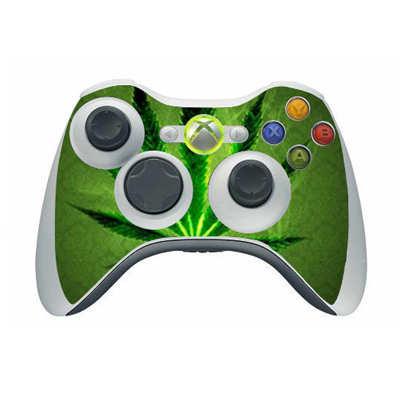 Weed Vinyl Skin Sticker Protector for Microsoft Xbox 360 Controller Skins Stickers For Xbox 360