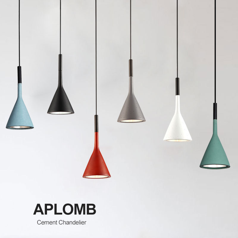 Aplomb Suspension Lamp Concrete Pendant lighting Industrial Retro Cement Pendant Lamp Loft Nordic Restaurant Bedroom Droplight цена