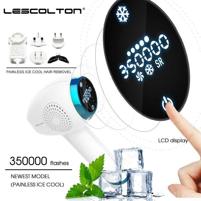 2019 YENI Lescolton Buz serin IPL Epilatör Kalıcı Lazer Epilasyon lcd ekran depilador bir lazer Bikini Giyotin Fotoepilator