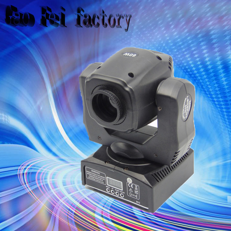 led 60W mini led spot moving head light Mini Moving Head Light 60W DMX dj 7 gobos effect stage lights/ktv bar disco spot 60w dj led moving head light disco lamp beam gobos dmx music party lights channels professional led stage lighting effect