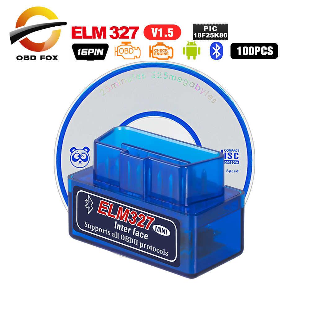 Super Mini ELM 327 Bluetooth V2.1 OBDII Auto Scanner elm327 wifi v1.5  works on Android/IOS ELM327 USB MINI 2017 100pcs/lot
