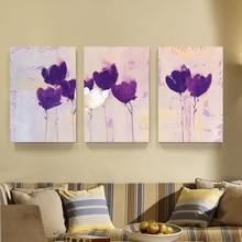 3 stück moderne wandbilder für wohnzimmer leinwand gemälde bildwandkunst lilie cuadros poster und drucke blumen keine rahmen