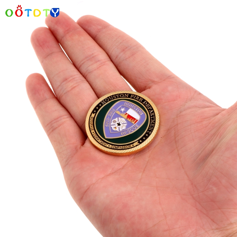 US $1 37 13% OFF|Saint Florian Houston Fire Department Commemorative  Challenge Coin Collection Art-in Sports Souvenirs from Sports &  Entertainment on
