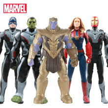 NEW 30cm Avengers Endgame Thanos Hulk Spider Iron Man Captain Marvel America Black Panther Thor Action Figure Toy Doll for Kids(China)