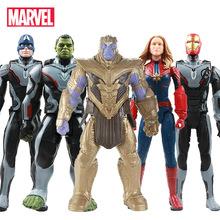 Nowy 30cm Avengers Endgame Thanos Hulk pająk Iron Man kapitan Marvel ameryka czarna pantera Thor figurka zabawka lalka dla dzieci tanie tanio Model Unisex Film i telewizja Wyroby gotowe Zachodnia animiation Żołnierz gotowy produkt 3 lat 12 30cm None Second edition