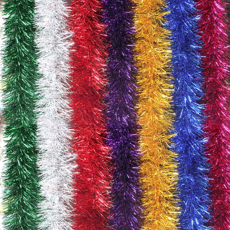 2M Colorful Garland Omament Bar Christmas Tree Decoration For Outdoor Party Supplies Wedding Festival Birthday Decorations