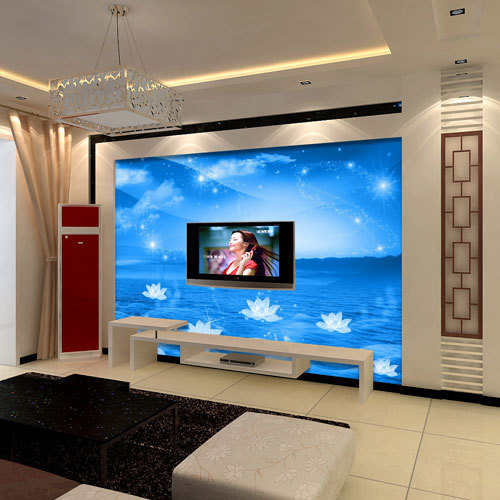 sky bedroom living room sofa tv backdrop wallpaper murals custom size