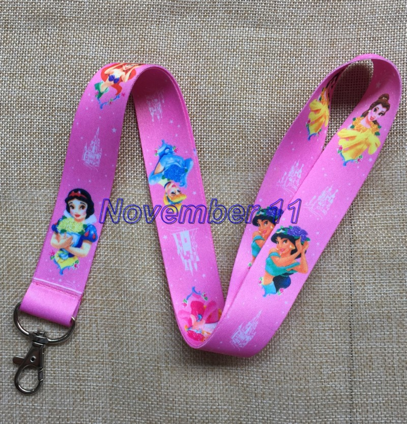 Lot 50Pcs cartoon princess Cell Phone Lanyards MP3 Strap Lanyards NECK Lanyard Charm WW300-in Key Chains from Jewelry & Accessories    1