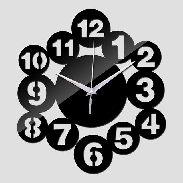 nice wall clocks for sale 2017 rushed acrylic wall clocks hot 3d beautiful art modern design mirror clock sale sticker