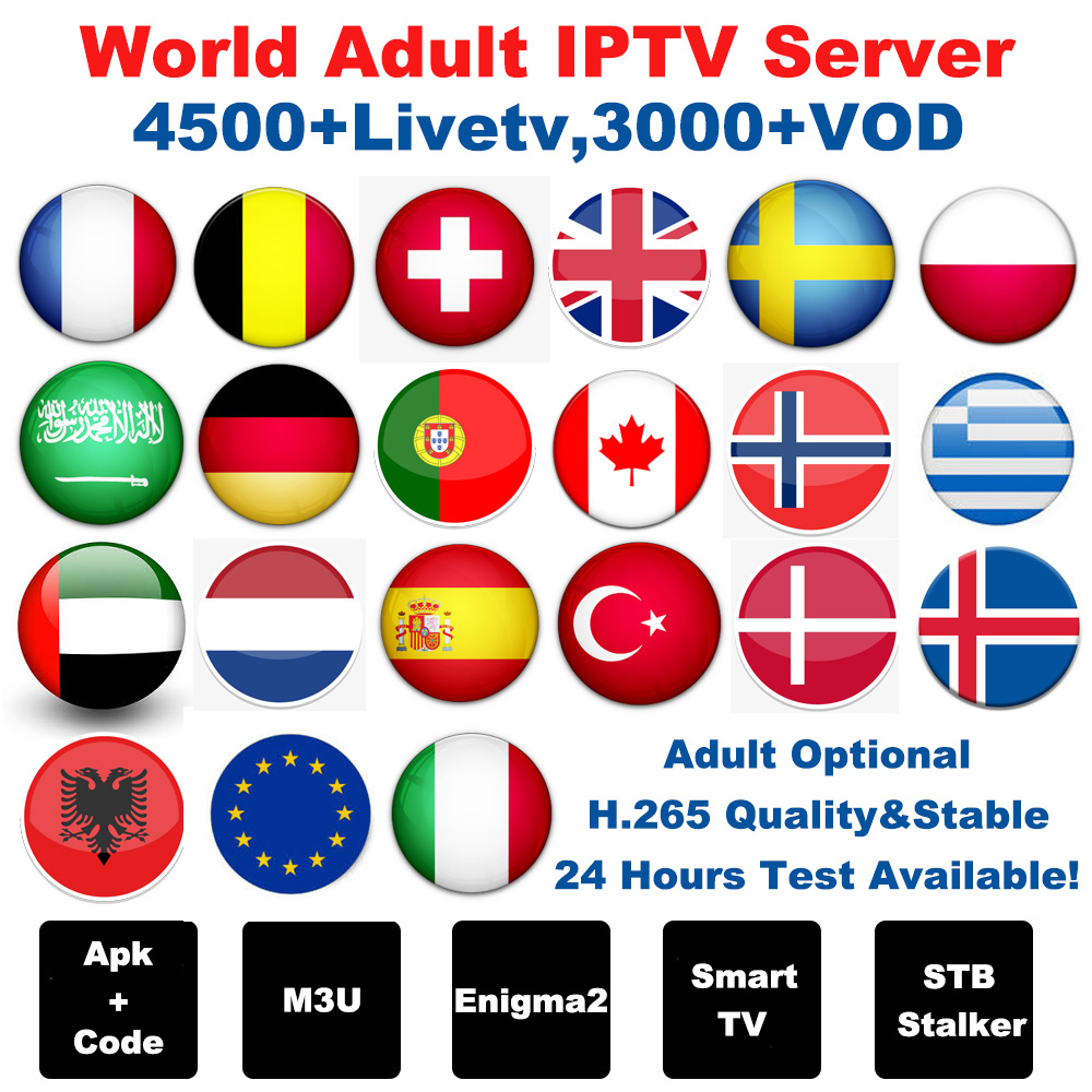 French Iptv Europe Arabic Sweden Norway Netherland Germany Italy Turkey Uk Usa Canada H 265 Hd M3u Android Enigmas2 Smart Tv Box