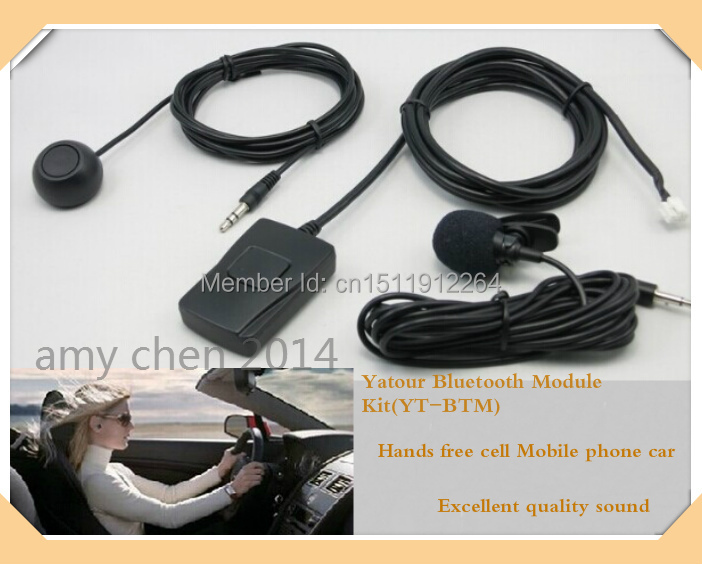 цена на Yatour Bluetooth Hands Free module car kit(YT-BTM)+Remote Control Unit(YT-REMO)-Hands free cell Mobile phone car free shipping