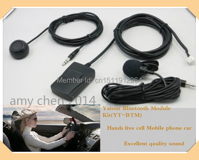 Yatour módulo Bluetooth Mãos Livres kit carro (YT-BTM) + Unidade De Controle Remoto (YT-REMO)-Mãos Livres carro do telefone Móvel celular frete grátis
