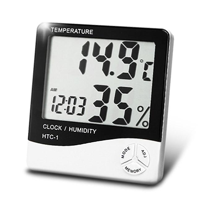 LCD-Digital Thermometer Hygrometer Humidity Temperature Meter Clock
