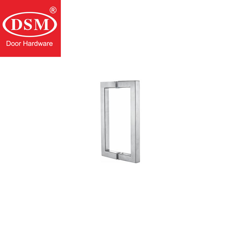 Durable Glass Door Pull Handle Made Of 304 Stainless Steel For Bathroom/Shower Doors PA-131-19*19*222mm shower door handle 304 grade stainless steel pull handles for bathroom glass doors pa 646 25 10 460mm