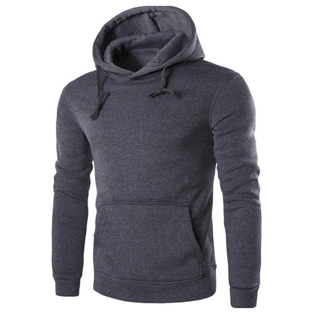 43e4e2fb New 2017 Hoodies Mens fashion Brand Hoodie solid Color Sweatshirt Polyester  Men Slim Men's Hoody sweatshirts