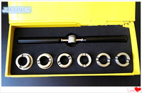 Full Metal 5537 Grooved Watch Case Back Opening Wrench Key and Die Chuck Set for Watch Repair