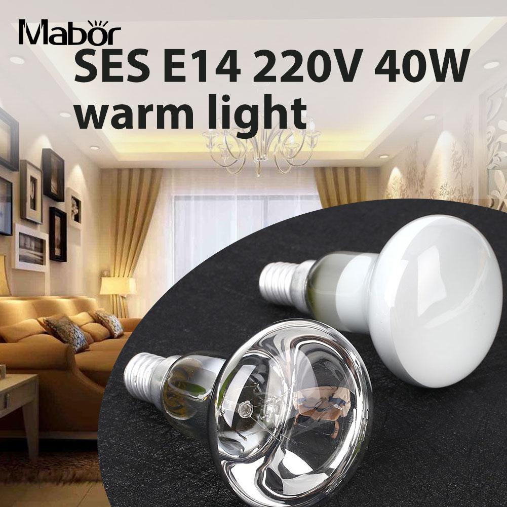 Reflective spotlight lava Incandescent lamp bulb SES E14 holder 220V 40W warm white Screw Bedroom Home Living Room Lighting